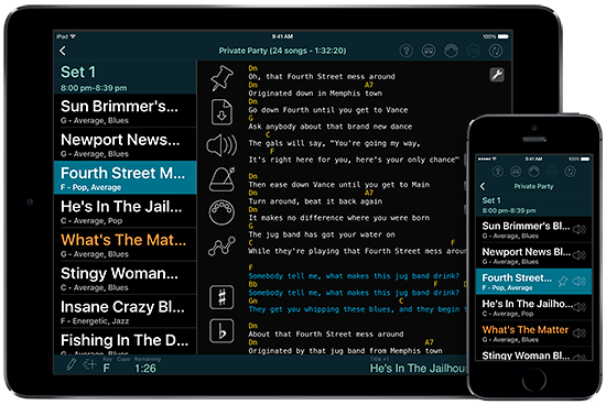 Set List Maker for iOS and Android